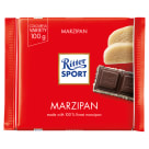 RITTER SPORT Dark Chocolate with Marzipan 100 g