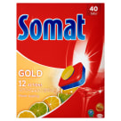 SOMAT Gold Tabletki do zmywarek Lemon & Lime  40 szt. 1 szt