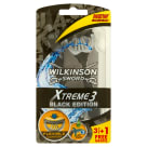 WILKINSON Xtreme 3 Black Razors 3 pcs + 1 pcs FREE 1 pc