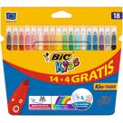 BIC Kids Flamastry 18 kolorów 1szt