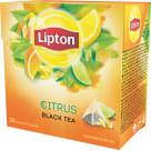 LIPTON Herbata czarna aromatyzowana Owoce Cytrusowe 20 piramidek 36g