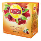 LIPTON Herbata czarna aromatyzowana Wiśnia Morello 20 piramidek 34g