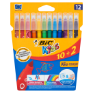 BIC Kids Washable colored markers 12 pcs 1pc