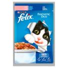FELIX® Fantastic Karma dla kotów z łososiem i sardynką w galaretce 100g