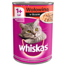 WHISKAS 1+ Cat food with Beef in Sos - Can 400 g