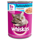 WHISKAS 1+ Cat food with tuna in sauce - can 400 g