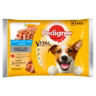 PEDIGREE ADULT Food for dogs - Beef Carrots and Chicken Carrots in Musa 4 pcs 400 g