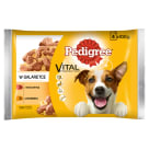 PEDIGREE ADULT Dog food - Beef and Poultry in Jelly (4 sachets) 400 g