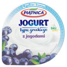 PIĄTNICA Greek yopghurt with berries 0% Fat 150g