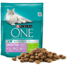 PURINA ONE SENSITIVE Adult cat food rich in rice and rice 800 g