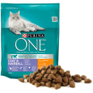 PURINA ONE Coat&Hairball Adult cat food rich in chicken and grains 800 g