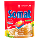 SOMAT Gold Tablets for washing dishes in dishwashers Lemon & Lime 36 pcs 691g