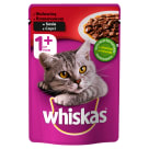 WHISKAS 1+ Cat food with Beef in Sos 100 g