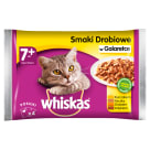 WHISKAS 1+ Cat Food - Selection of Poultry Dishes in Jelly (4 sachets) 400 g
