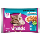 WHISKAS 1+ Cat Food - Fish Tastes in Jelly (4 sachets) 400 g