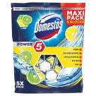 DOMESTOS Power 5 Kostka toaletowa Lime (5x55g) 1 szt