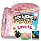 BEN&JERRY'S Ice cream with butter cream in pink chocolate sauce 470 ml