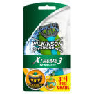 WILKINSON Xtreme 3 Sensitive Razors 3 pcs + 1 psc gratis 1 pc