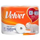 VELVET Classic Najdłuższy White Toilet Paper, 8 per Pack 1pc