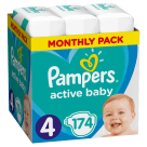 PAMPERS Active Baby Maxi Nappies Size 4 (9-14kg) 174 pcs 1pc