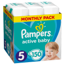 PAMPERS Active Baby Junior Nappies Size 5 (11-16kg) 150 pcs 1pc