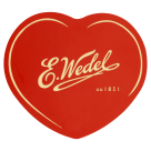 WEDEL A set of heart-shaped pralines in a can 263 g