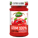 ŁOWICZ 100% fruit jam with smooth strawberry 235 g