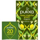 PUKKA Herbatka aromatyzowana Clean Matcha Green BIO 20 torebek 30g