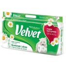 VELVET Naturalnie Pielęgnujący Camomile and Aloe Vera Overprinted Toilet Paper, 8 per Pack 1 pc