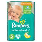 PAMPERS Active Baby Pieluchy Rozmiar 5 Junior (11-18kg) 50 szt 1szt