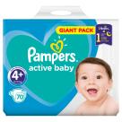 PAMPERS Active Baby Pieluchy Rozmiar 4+ Maxi+ (9-16kg) 70 szt 1szt