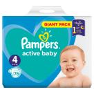 PAMPERS Active Baby Pieluchy Rozmiar 4 Maxi (9-14kg) 76 szt. 1szt