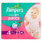 PAMPERS Active Girl Pieluchomajtki Rozmiar 4 (9-14kg) 23 szt 1szt