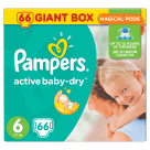 PAMPERS Active Baby Pieluchy Rozmiar 6 Extra Large (16+kg) 66 szt 1szt