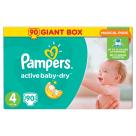PAMPERS Active Baby Pieluchy Rozmiar 4 Maxi (8-14kg) 90 szt 1szt