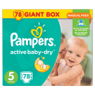 PAMPERS Active Baby Pieluchy Rozmiar 5 Junior (11-18kg) 78 szt 1szt
