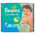 PAMPERS Active Baby Pieluchy Rozmiar 4+ Maxi+ (9-16kg) 32 szt 1 szt