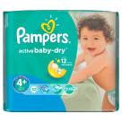 PAMPERS Active Baby Pieluchy Rozmiar 4+ Maxi+ (9-16kg) 32 szt 1szt