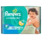 PAMPERS Active Baby Dry Pieluchy Rozmiar 4+ Maxi Plus (9-16kg) 40 szt 1szt