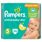 PAMPERS Active Baby Dry Pieluchy Rozmiar 5 Junior (11-18kg) 36 szt 1 szt