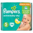 PAMPERS Active Baby Dry Pieluchy Rozmiar 5 Junior (11-18kg) 36 szt 1szt