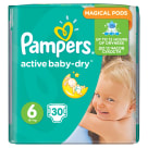 PAMPERS Active Baby Dry Pieluchy Rozmiar 6 Extra Large (15+kg) 30 szt 1szt