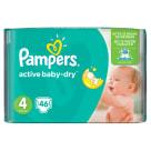 PAMPERS Active Baby Dry Pieluchy Rozmiar 4 Maxi (8-14kg) 46 szt 1szt