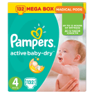 PAMPERS Active Baby Dry Pieluchy Rozmiar 4 Maxi (8-14kg) 132 szt 1szt