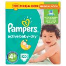 PAMPERS Active Baby Dry Pieluchy Rozmiar 4+ Maxi Plus (9-16kg) 120 szt 1szt
