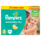 PAMPERS Active Baby Dry Pieluchy Rozmiar 5 Junior (11-18kg) 111 szt 1 szt
