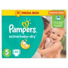 PAMPERS Active Baby Dry Pieluchy Rozmiar 5 Junior (11-18kg) 111 szt 1szt