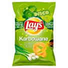 LAYS KARBOWANE Chipsy Zielona Cebulka 130g