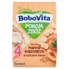 BOBOVITA Porcja Zbóż Kaszka mleczna manna bananowo-brzoskwiniowa - po 6 miesiącu 210g