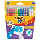 BIC Kids Flamastry 10 kolorów i wymazywacze 2 sztuki 1szt
